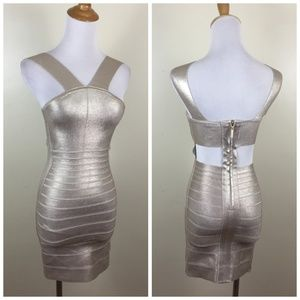MARCIANO Cut Out Back Bodycon Party Dress